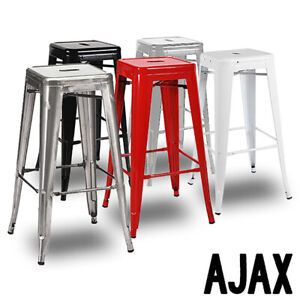 "NEW! MODERN STEEL 30"" BARSTOOL - COUNTER RETRO TOLIX-STYLE BAR STOOL - AJAX"