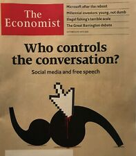 "Economist Magazine: ""Who Controls the Conversation?"" 24 October 2020"