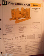 ✪altes original Prospekt Brochure CAT Caterpillar Generator SET 3412