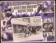 L311 WHILE THE CITY SLEEPS Mexican movie lobby card '56 Fritz Lang noir