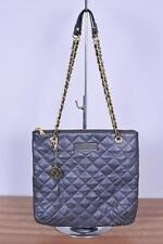 DKNY Navy Blue Gansevoort Quilted Soft Nappa Leather Bag Chain Strap Tote