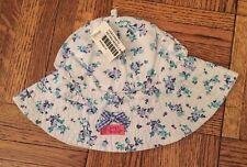 Naartjie Baby Retro Rose Lawn Hat Cotton Beach Sun Hat Girls Size 3/6 Months NWT