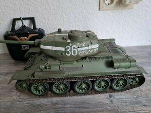 RC PANZER Russischer T34/85 in 1:16 mit GEFECHT-SIMULATION