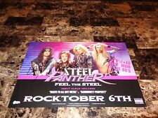 Steel Panther Band Signed 11x17 Promo Poster Photo Proof Feel The Steel Glam New