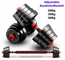 30Kg, 40kg Adjustable Dumbbell Barbell Set Gym Exercise Weights Fitness Training