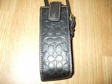 Vintage Coach leather cell phone holder purse bag wristlet with buckle strap