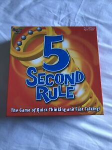 5 Second Rule Board Game Players 3-6 Ages 8+ Excellent Condition