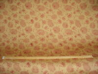 11-1/8Y ROBERT ALLEN RED NATURAL GOLDEN BROWN EMBEROIDERY UPHOLSTERY FABRIC