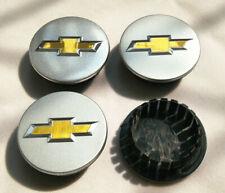 "4pcs 59mm 2.32"" Silver Wheel Center Hub Caps Rim For Chevrolet #9594156 Emblem"