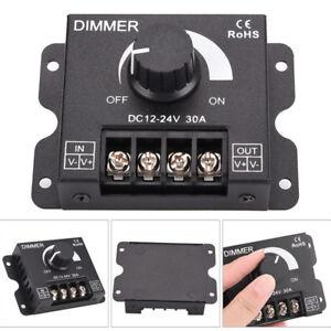 30A LED dimmer DC 12V 24V 360W adjustable brightness lamp bulb strip driver N*WA