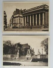2 x CPA ~1920/30 NANTES Theater, Monument aus Morts, Cartes P. Frankreich France