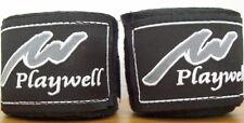 Boxing Hand Wraps Cotton Black Thai  Kick Boxing Bande Box