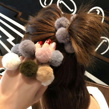Hair Ropes Ties Pompom Ball Elastic Hairband Rubber Band Women Hair Accessories