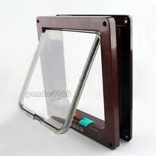 Brown 4 Way Locking Lockable Pet Cat Dog Magnetic Lock Flap Door Gate S M L SIZE & Cat Doors \u0026 Flaps | eBay Pezcame.Com
