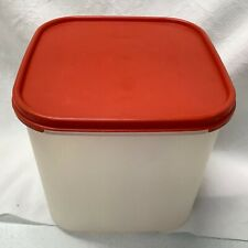 Tupperware Square Modular Mates 17 Cup Sheer Storage Container 1621 Red Lid 1623
