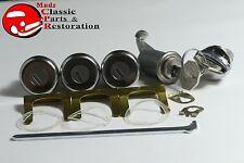 62-64 Nova Locks Ignition Door Trunk & Glovebox Original OEM Keys Lock Set Kit
