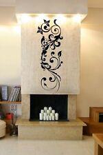 Elegant swirly flower wall theme decor wall stickers charming decal 20cm x 60cm