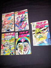 Marvel G.I. Joe Comic Set of 4 from 1986 + 1988 Order Of Battle Real American