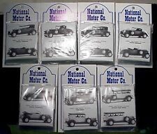 HO/HOn3 WISEMAN NM008 1929 PACKARD 7 CAR SET NATIONAL MOTOR COMPANY KITS