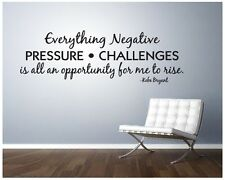 Kobe Bryant pressure challenges Vinyl lettering sticky word quote wall art