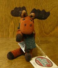 "Ganz Cottage #CC1375 MUFFLER, 3.5"" Moose by Lorraine Chien NEW From Retail Store"