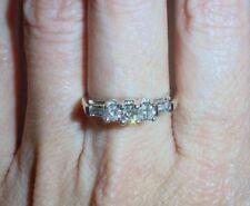 14K WHITE GOLD VINTAGE DIAMOND ENGAGEMENT RING - SIZE 7.25 - LB939