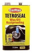 Tetroseal cera de petróleo Claro 5 Litros CARPLAN waxoyl a prueba de herrumbre Protector