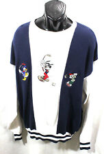 DISNEY STORE MICKEY MOUSE & FRIENDS GOLF SWEATER MEN CREWNECK PULLOVER Multi XL