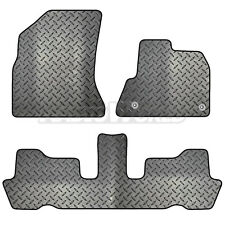Citroen C4 Picasso 2007 - 2013 Tailored 3 Piece Rubber Car Mat Set 2 Clips