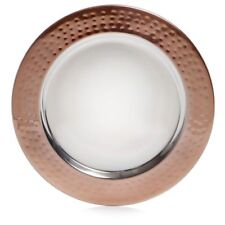 Copper Charge Plates Set of 4 Stylish  Dinner Plates Kitchen Dish Dia 33cm
