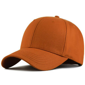 XXL 62-65cm Oversize Big Baseball Cap Structured Twill Plain Hat for Large Head
