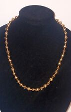 Gold Toned Beaded Necklace Vintage Signed Napier Solid Bold