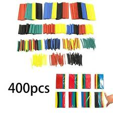400x Car Assorted Electrical Cable Wire Wrap Heat Shrink Tubing Tube Sleeve Kit