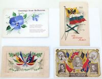 . 4 x WW1 RELATED POSTCARDS.