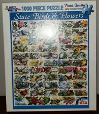 White Mountain Puzzles 1000 Piece State Birds & Flowers SEALED IN BOX 2012