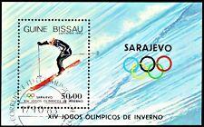 GUINEA-BISSAU,1983 WINTER OLYMPIC SARAJEVO MINIATURE.SHEET SG MS793