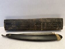 Vintage Antique Wade Butchers Famous Keen Shaving Bow Straight Razor Pipe