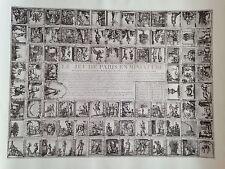 """reproduction lithographie du """"Jeu de Paris """" de 1804"""