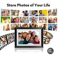 Smart Digital UeeVii Digital Picture Frame 10.1 Inch WiFi with IPS Touch Screen