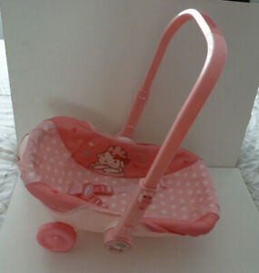 ANNABELL BABY  DOLL PINK TRAVEL SEAT WITH WHEELS    ZAPF CREATIONS