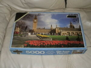 """Falcon Deluxe 5000 Piece Jigsaw Puzzle """"HOUSES OF PARLIAMENT"""""""