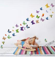 34 Colourful Butterflies Wall Stickers Decal Home Art Decor Mural Wallpaper Kids