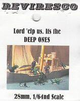 Deep Ones - Echsenmenschen - 8 Zinnfiguren - verschiedene Posen 1:64 / 1:72  OVP
