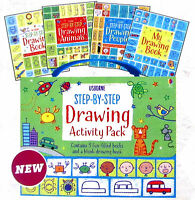 Usborne Step-by-Step Drawing Activity Pack (Box Set, 4 Paperback) FREE ship $35