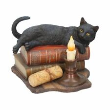 *THE WITCHING HOUR* Black Cat Art Resin Figurine By Lisa Parker (21cm)