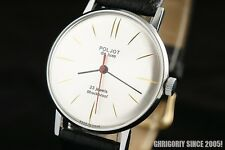 Extremely RARE Russian Gold Plated slim Luxury watch Luch De Luxe POLJOT 1970!
