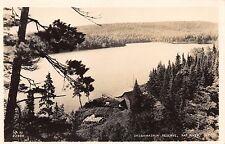 SASSAMASKIN RESERVE~LOG CABIN~RAT RIVER QUEBEC CANADA~REAL PHOTO POSTCARD 1940s