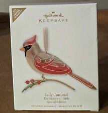 2010 Hallmark Keepsake Ornament Lady Cardinal The Beauty of Birds Se