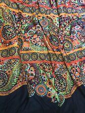 Josie Natori Comforter Full Queen Multicolor Navy Orange Pink Blue Reversible