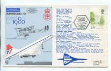1980 CONCORDE FLOWN LONDON-NEW YORK-LONDON COVER